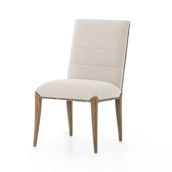 Nate Dining Chair (Dark Linen) - Abbott Collection - Parker Gwen