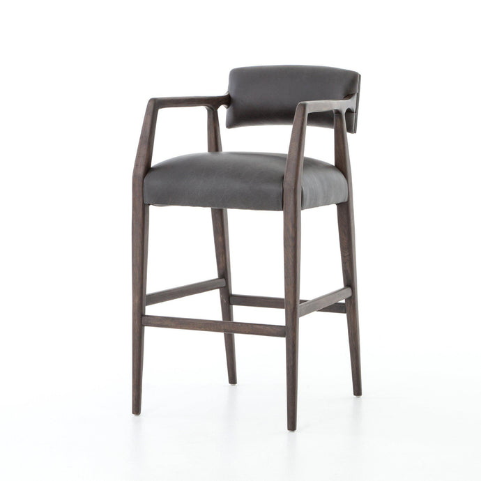 Abbott Collection Tyler Bar Stool: Chaps Ebony-Stool-Parker Gwen