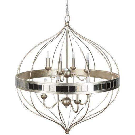 "Aerial 34.2"" x 29.3"" 8-Light Chandelier"