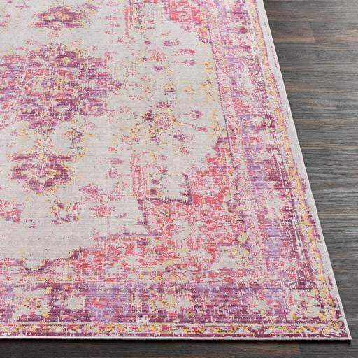 Antioch Medallion Area Rug - Multiple Sizes & Runner (Pink) - Parker Gwen