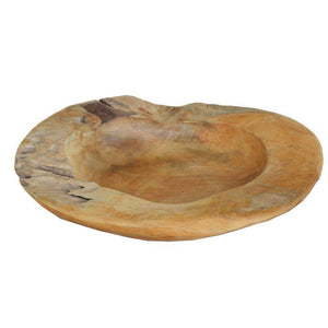 Aisling Decorative Teak Bowl-Tabletop-Parker Gwen