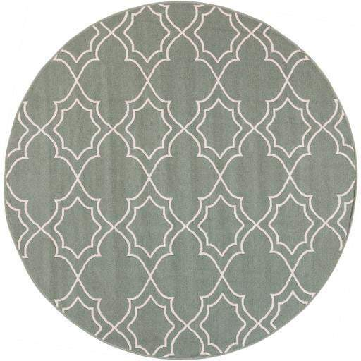 Alresco Indoor/Outdoor Area Rug - Sage (Multiple Sizes, Circle, Runners) - Parker Gwen