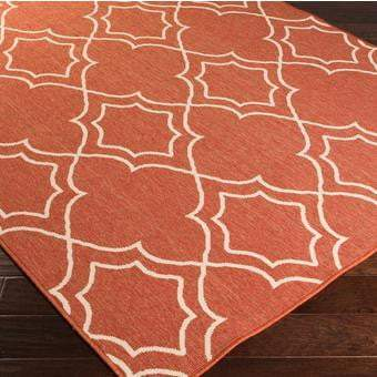 Alresco Indoor/Outdoor Area Rug - Rust (Multiple Sizes, Circle, Runners) - Parker Gwen