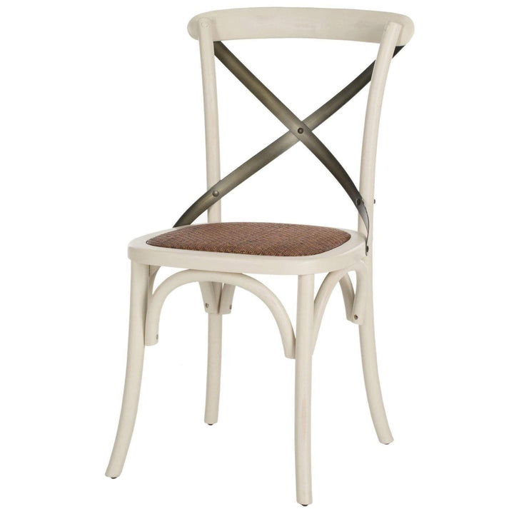 Eleanor X Back Farmhouse Dining Chair (Ivory) - Set of 2 - Parker Gwen