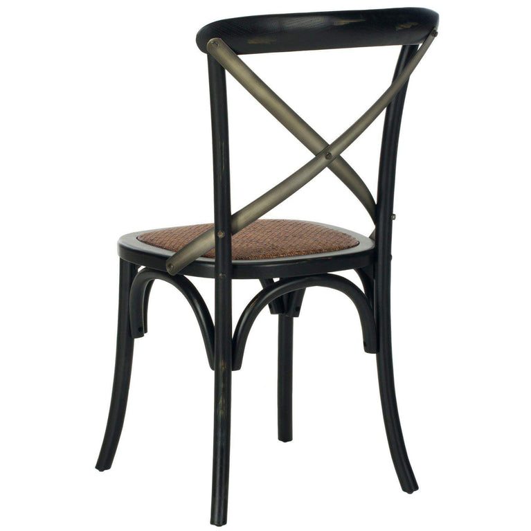 Eleanor X Back Farmhouse Dining Chair (Hickory) - Set of 2 - Parker Gwen