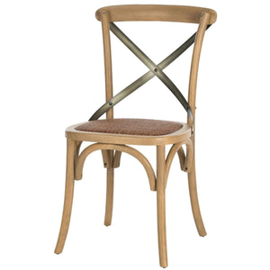 Eleanor X Back Farmhouse Dining Chair (Oak) - Set of 2 - Parker Gwen