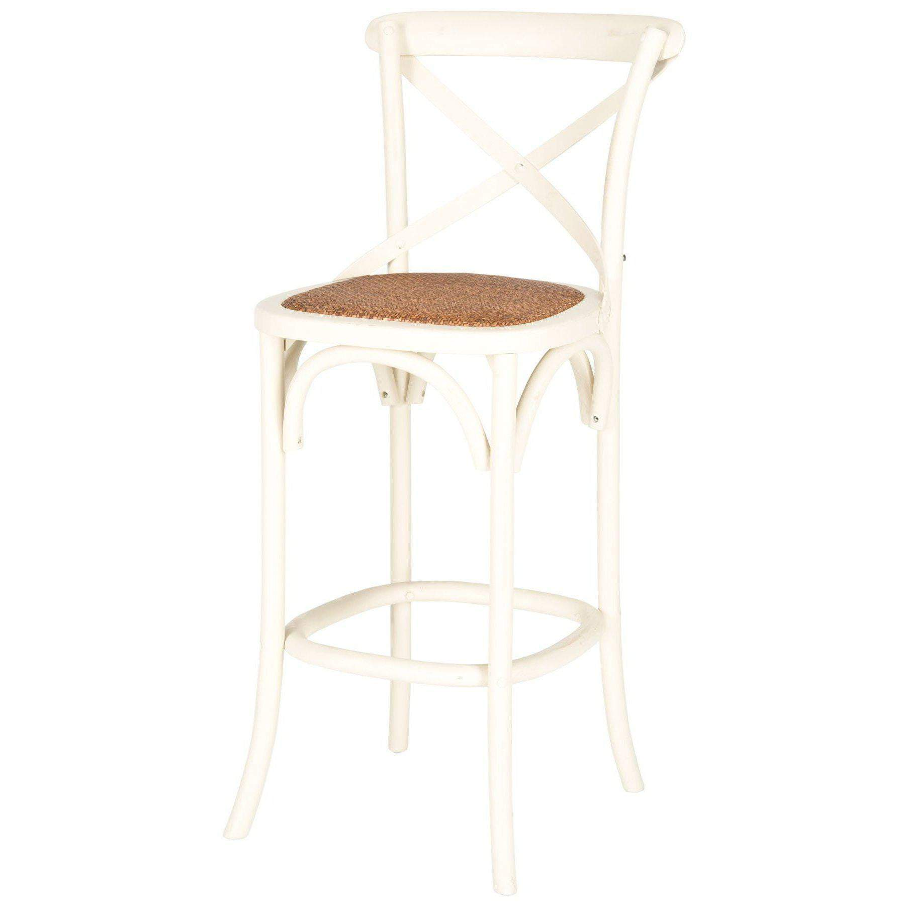 Eleanor X Back Bar Stool (Ivory)