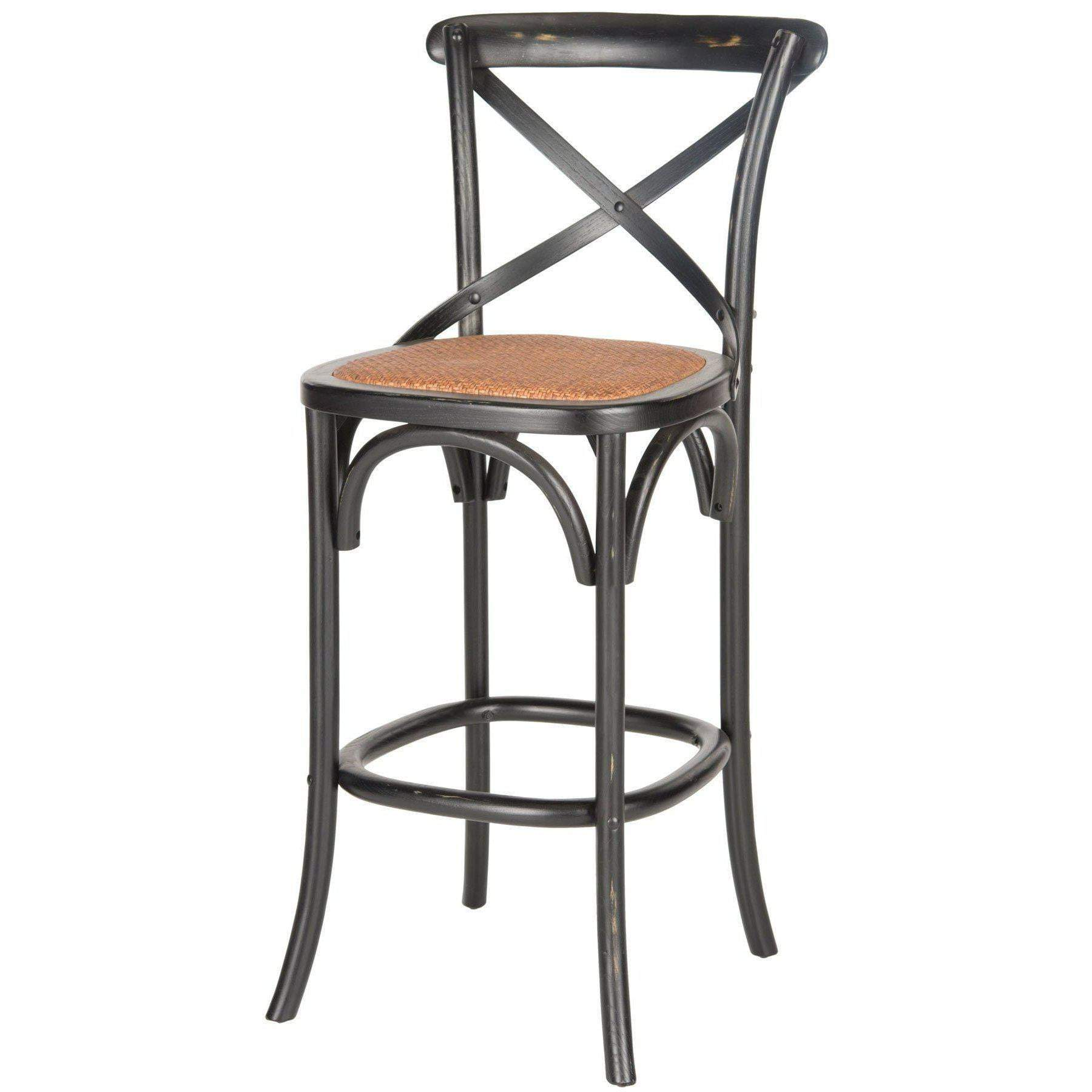 Eleanor X Back Bar Stool (Hickory) - Parker Gwen