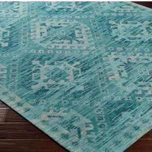 Amsterdam Chenille Rug Collection - 3 Sizes (Teal) - Parker Gwen