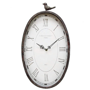 Antique Oval Bird Clock | Wall Clock | parker-gwen