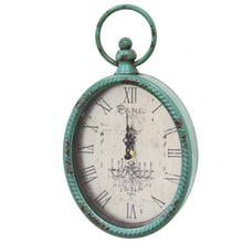 Antique Teal Oval Clock-Wall Clock-Parker Gwen
