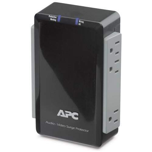 APC Audio/Video Surge Protector 6 Outlet with Coax Protection, 120V-Surge Protection-Parker Gwen