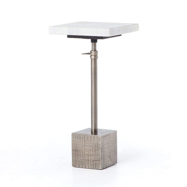 Sirius Adjustable Accent Table (Antique Pewter) | Side Table | parker-gwen.