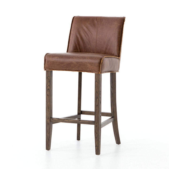 Aria Raw Edge Leather Bar or Counter Stool - Ashford - Parker Gwen