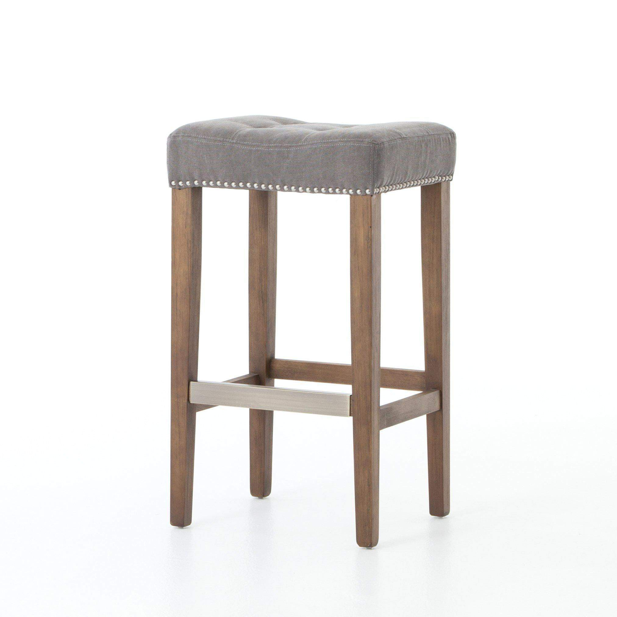 Sean Bar & Counter Stool with Kickplate (Dark Moon Canvas) - Ashford - Parker Gwen