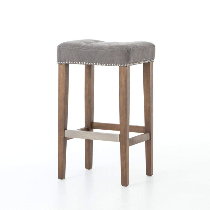 Ashford Collection Sean Bar Stool with Kickplate: Dark Moon Canvas-Stool-Parker Gwen