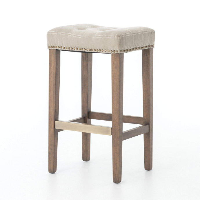 Ashford Collection Sean Bar Stool with Kickplate: Desert Canvas-Stool-Parker Gwen
