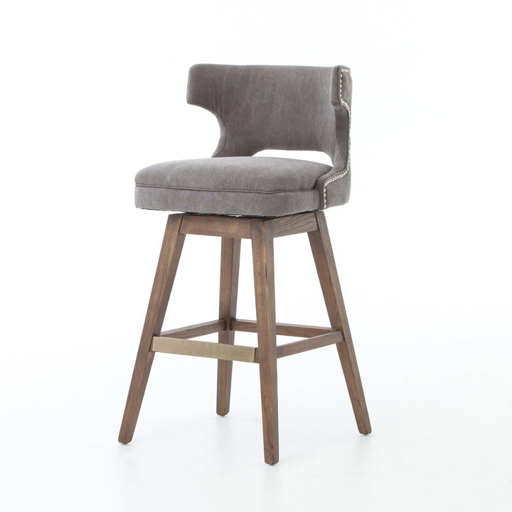 Task Bar & Counter Stool with Swivel Base (Dark Moon Canvas) - Ashford | Stool | parker-gwen