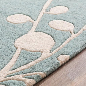 Willow Athena Wool Rug Collection - Multiple Sizes & Runner (Mint) | Indoor | parker-gwen