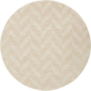 Herringbone Hand Loomed Rug Collection - Multiple Sizes & Shapes (Khaki) - Parker Gwen