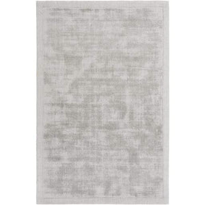 Silk Route Viscose Rug: Multiple Sizes & Shapes (Light Gray) - Parker Gwen