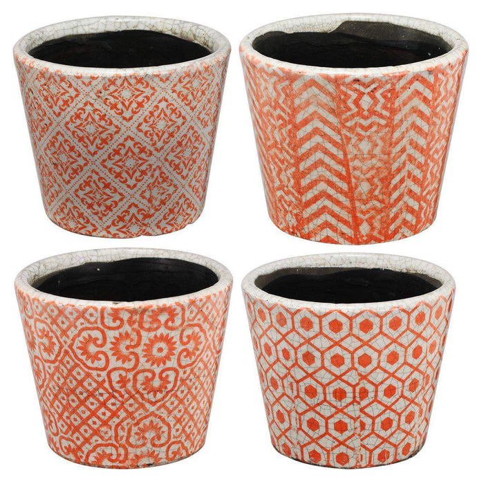 Bailey Terra-Cotta Planter (Set of 4)-Pot & Planter-Parker Gwen