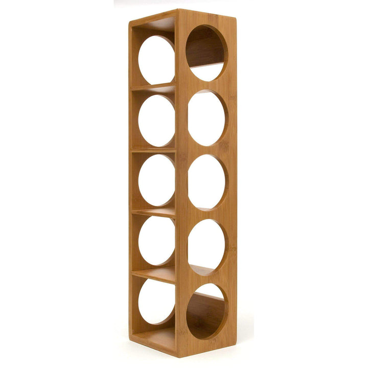 Bamboo 5 Bottle Stacking Wine Rack - Parker Gwen