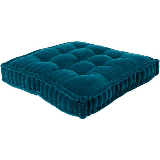"Bauble 24"" or 30"" Square Velvet Floor Pillow (Teal) - Parker Gwen"