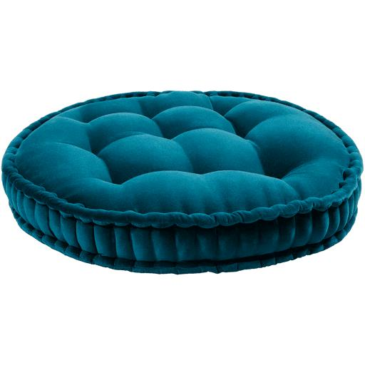 "Bauble 30"" Round Velvet Floor Pillow (Teal) - Parker Gwen"