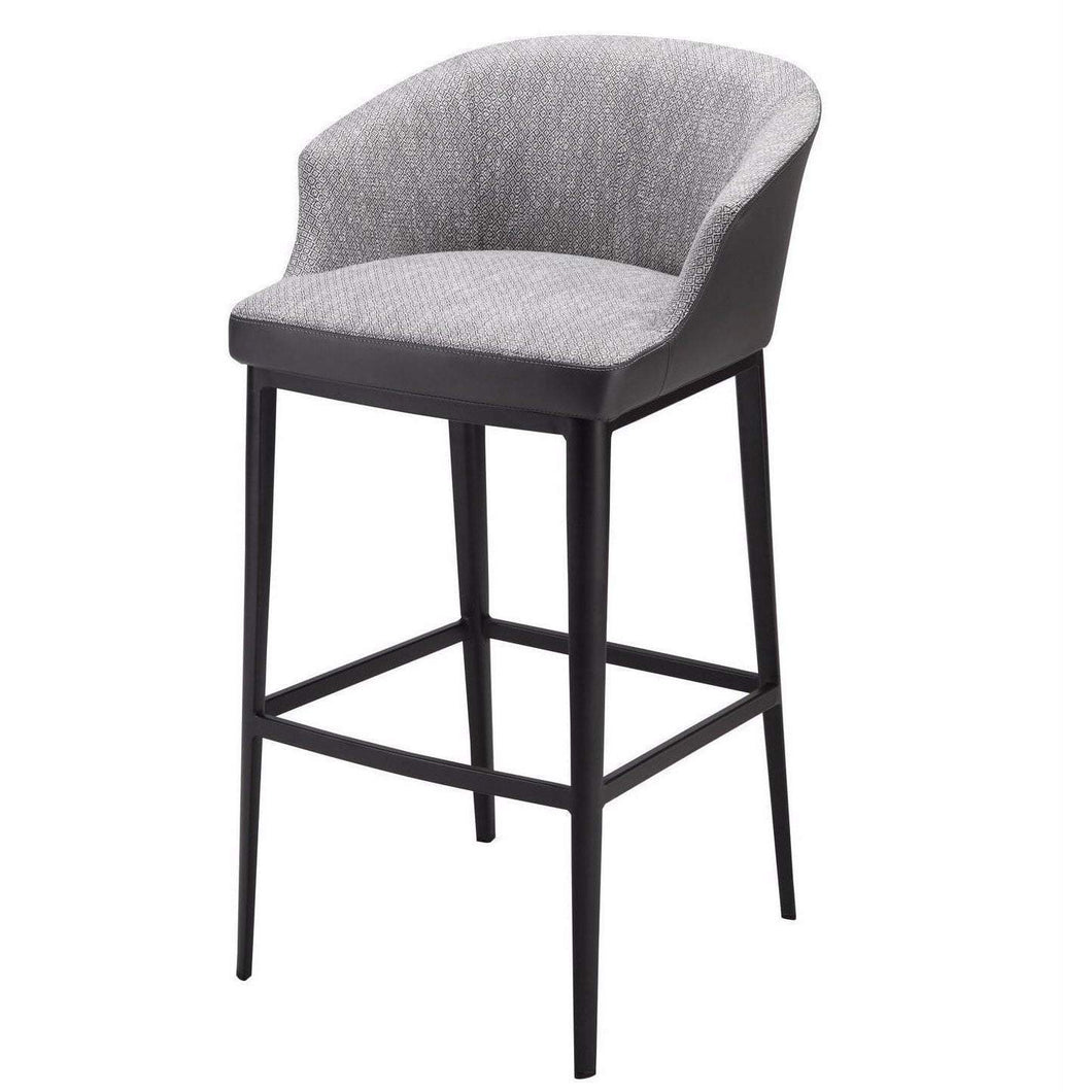 Beckett Upholstered Grey Bar or Counter Stool-Stool-Parker Gwen