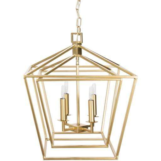 "Bellair 20.7""H x 20.7""W 4-Light Lantern Chandelier (Gold)"