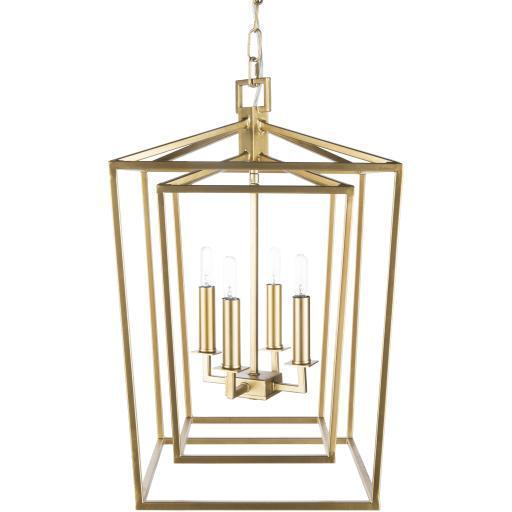 Sawyer Gold Gilded Metal Chandelier | Chandelier | parker-gwen