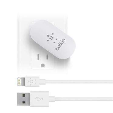 Belkin Swivel Charger + Lightning Charge Sync Cable (10 Watt/2.1 Amp)-Charging Adapter-Parker Gwen