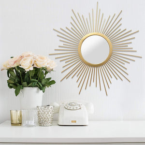 Bella Gold Wall Mirror-Mirror Art-Parker Gwen