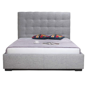 BELLE STORAGE BED LIGHT GREY FABRIC - Queen, King or California King-Bed-Parker Gwen