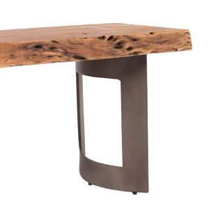 BENT BENCH SMALL SMOKED-Dining Bench-Parker Gwen