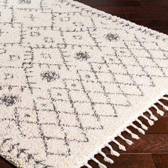 Ivory Moroccan Berber Shag Rug Collection - Multi Diamond (Multiple Sizes & Runners) - Parker Gwen