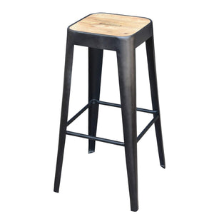 Bistro Wood and Iron Bar or Counter Stool - Parker Gwen