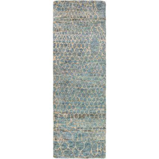 Bjorn Hand Knotted Jute Rug: Multiple Sizes & Runner (Blue) - Parker Gwen