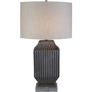 Blacklake Ceramic Table Lamp (Taupe) - Parker Gwen