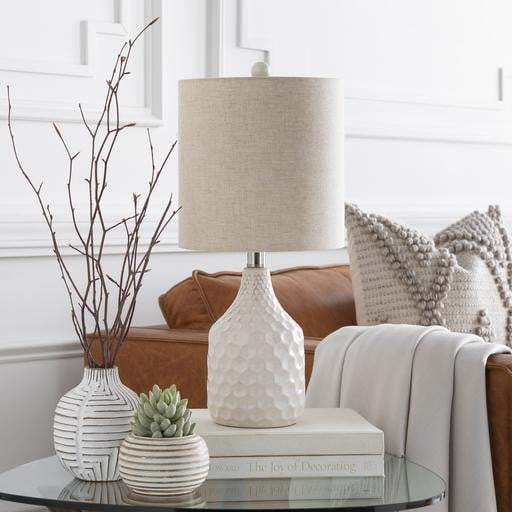 Blakely Ceramic Table Lamp (White) - Parker Gwen