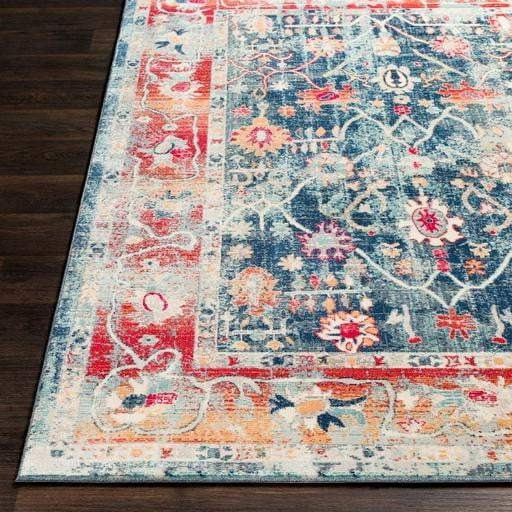 Bohemian Rug Collection - Multiple Sizes & Runner (Blue & Red) - Parker Gwen