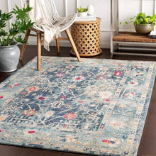 Bohemian Rug Collection - Multiple Sizes & Runner (Blue)-Indoor-Parker Gwen