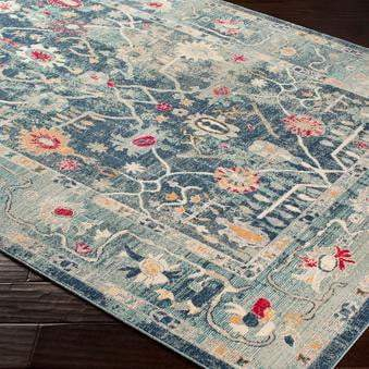 Bohemian Rug Collection - Multiple Sizes & Runner (Blue) - Parker Gwen