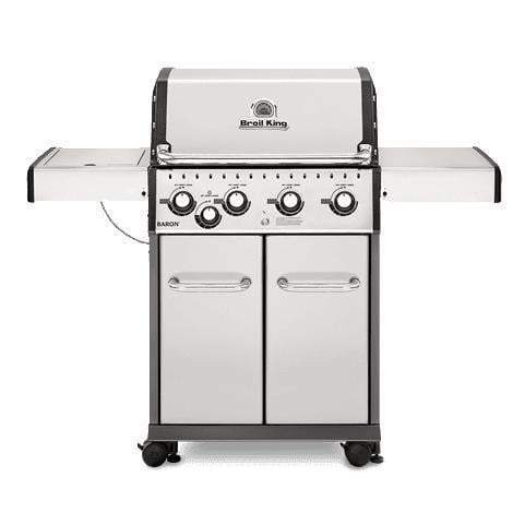 Broil King Baron S440 Stainless Steel Grill (Natural Gas or Propane)-Grill-Parker Gwen