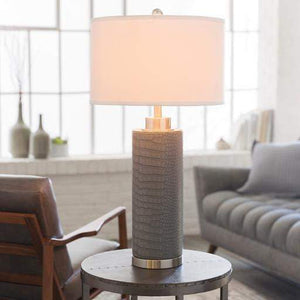 Buchanan Faux Croc Table Lamp - Parker Gwen