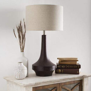 Carson Resin Table Lamps (Dark Brown) - Parker Gwen