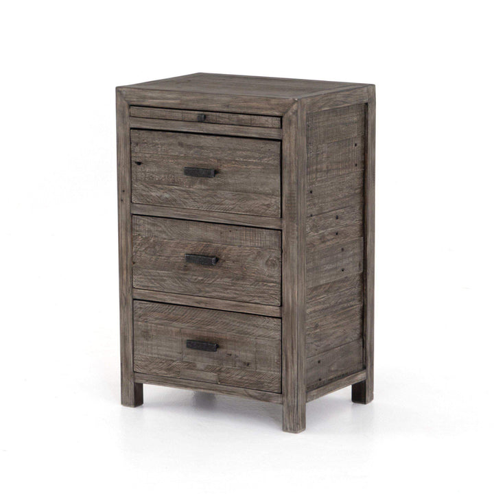 Caminito Collection Nighstand: Rustic Black Olive-Nightstand-Parker Gwen