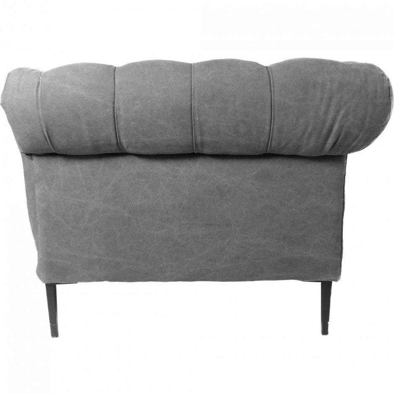 "Canal Tufted 94"" Sofa (Grey) - Parker Gwen"