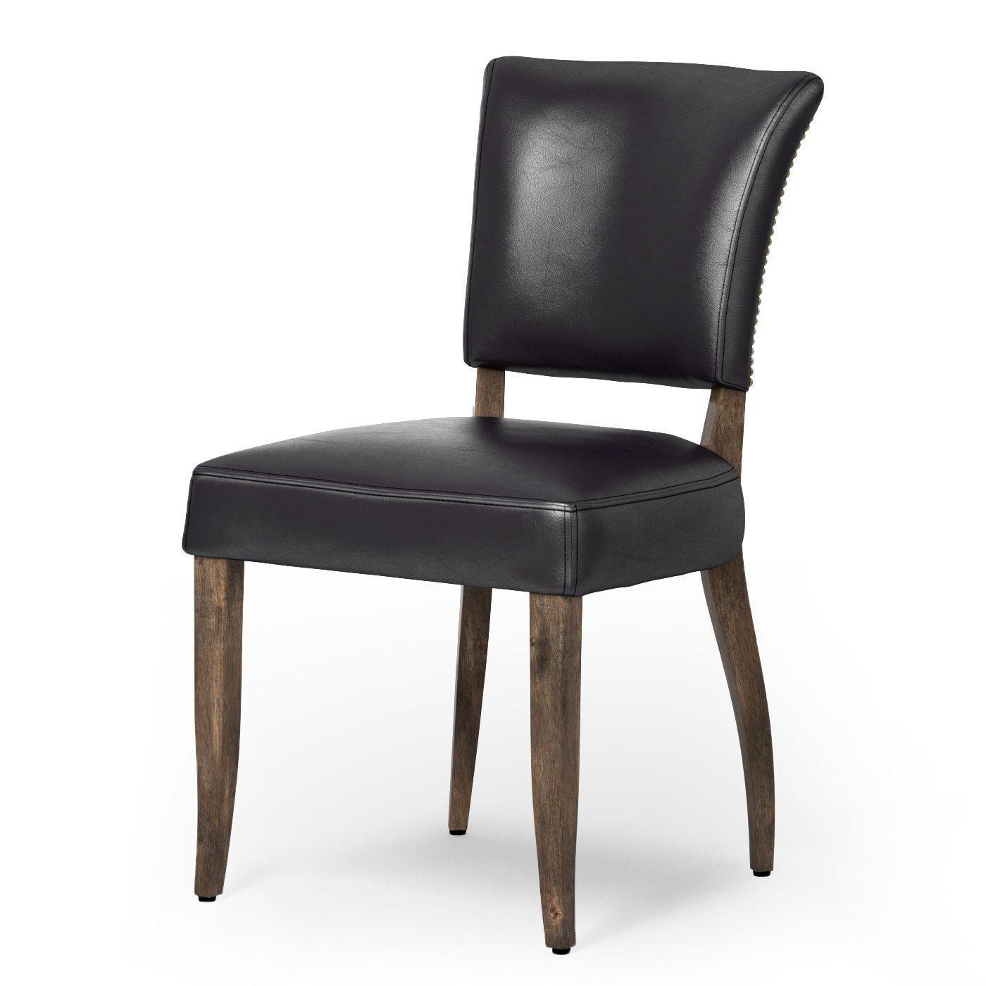Mimi Leather Dining Chair (Rider Black) - Carnegie Collection | Dining Chair | parker-gwen